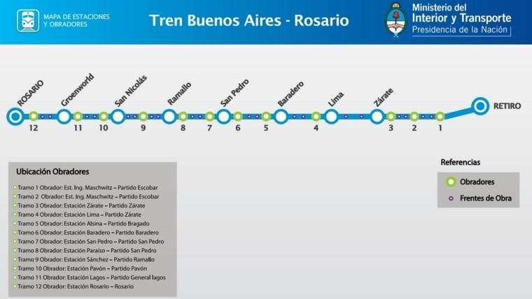 Confirmaron horario y precios del tren rosario retiro for Ministerio del interior y transporte de la nacion