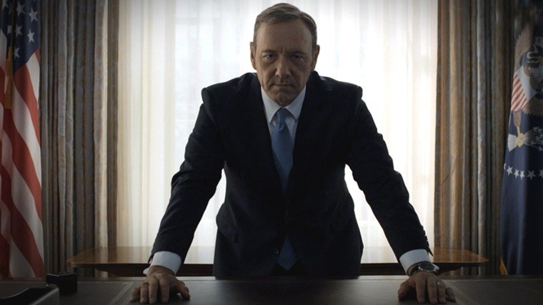 Kevin Spacey en House of Cards.