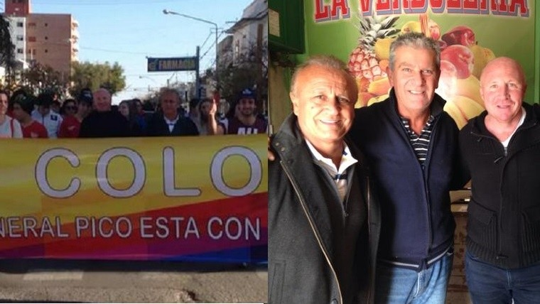 Del Sel junto al Colorado Mac Allister en La Pampa.