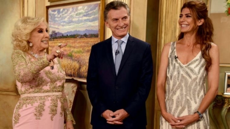 Mirtha recibió a Macri y su esposa Juliana Awada.