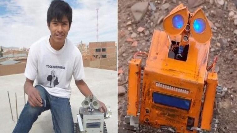 Creó un robot hecho con basura