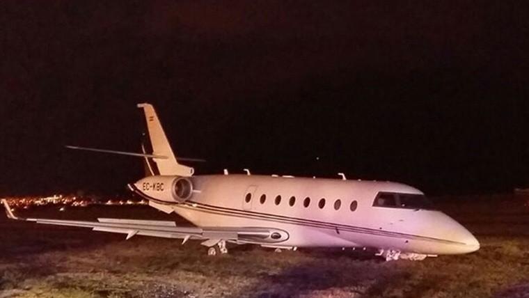 El jet privado de Cristiano sufrió un accidente en Barcelona