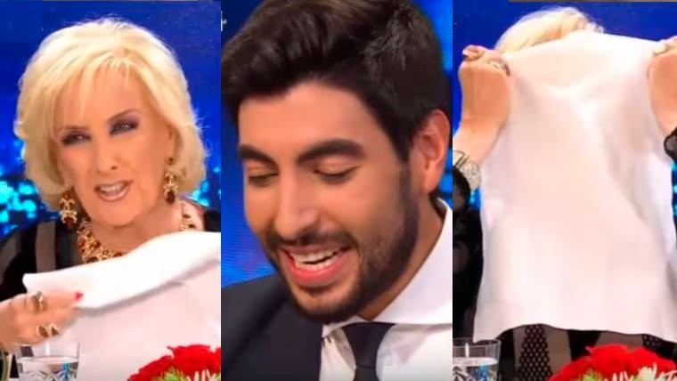 Mirtha le preguntó a Facundo Moyano por Susana y lo hizo transpirar