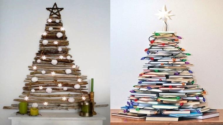 Cre tu rbol de navidad con materiales reciclados - Arboles de navidad de diferentes materiales ...