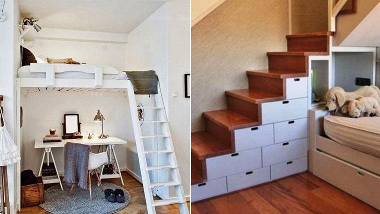 Ideas para aprovechar el espacio en ambientes peque os - Como aprovechar espacios pequenos ...
