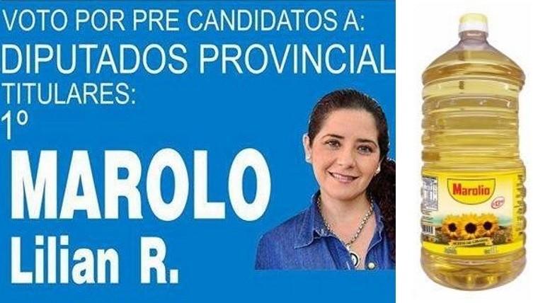 Candidata a diputada usó la melodía de una marca de aceite como jingle electoral — Campaña bizarra