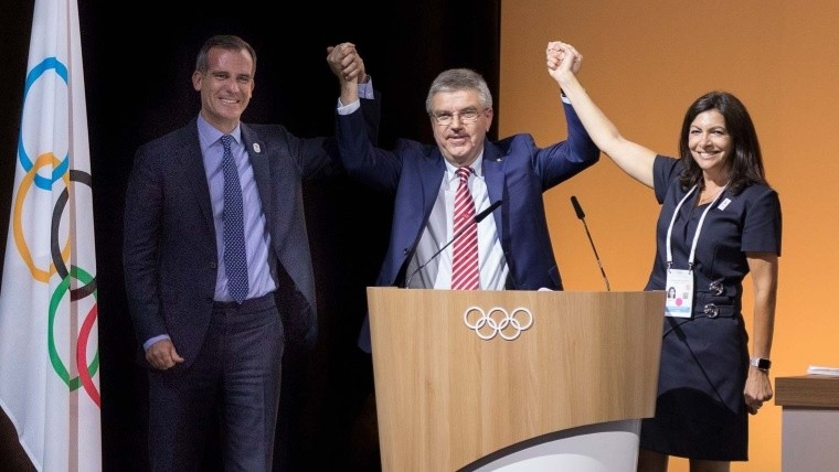 París y Los Ángeles serán sede de los Juegos Olímpicos