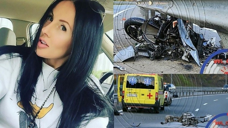 Terrible final: muere en accidente conocida motoquera y estrella de Instagram rusa