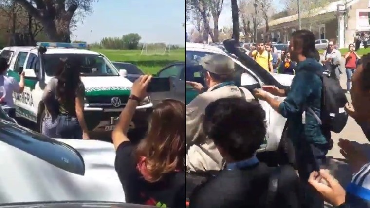 Alumnos pedían por Santiago Maldonado y entró Gendarmería