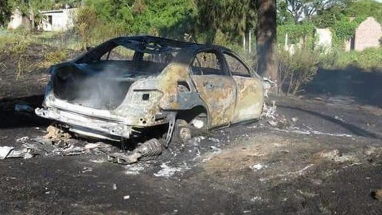 Se incendió el auto de Daniel Passarella en la ruta