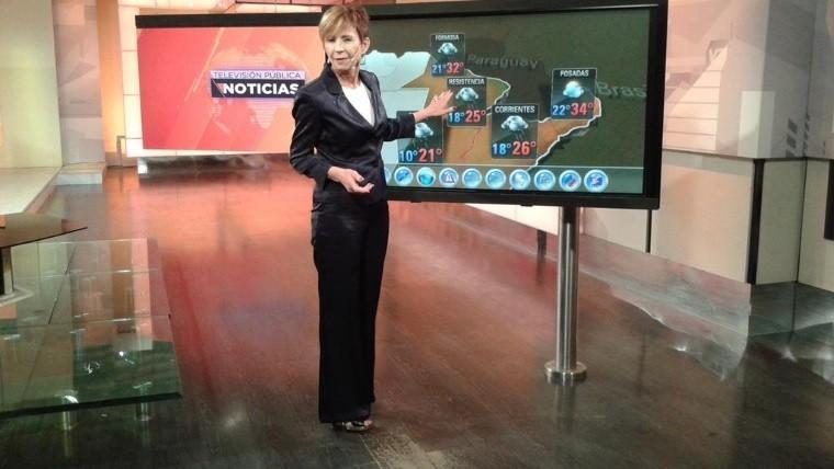 Despidieron a Nadia, la histórica presentadora del clima de la TV Pública