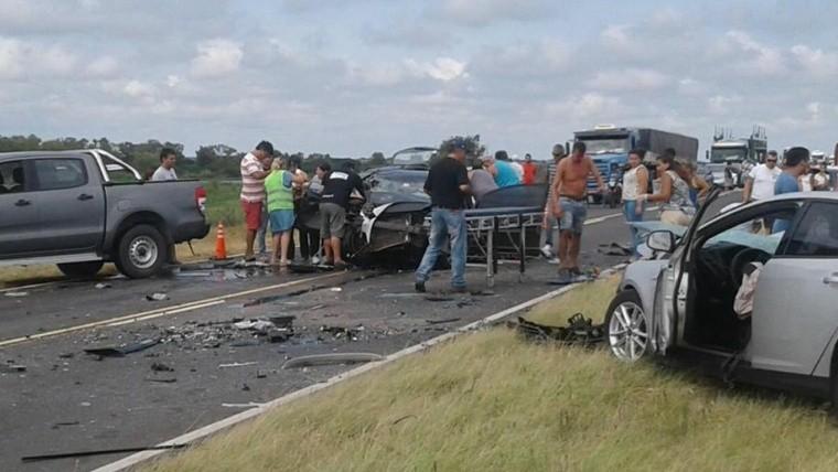 La dantesca escena de la tragedia en la ruta