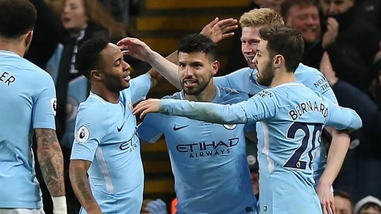 ¡Cuatro de Agüero para la victoria del City!