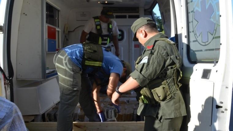 Simularon emergencia para traficar 400 kilos de marihuana en una ambulancia