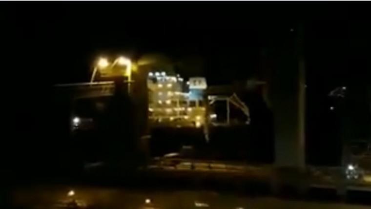 Un barco protagonizó un accidente en Puerto General San Martín