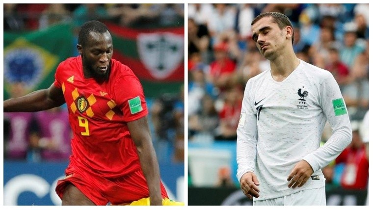 De un lado la Francia de Griezmann del otro la Bélgica de Lukaku