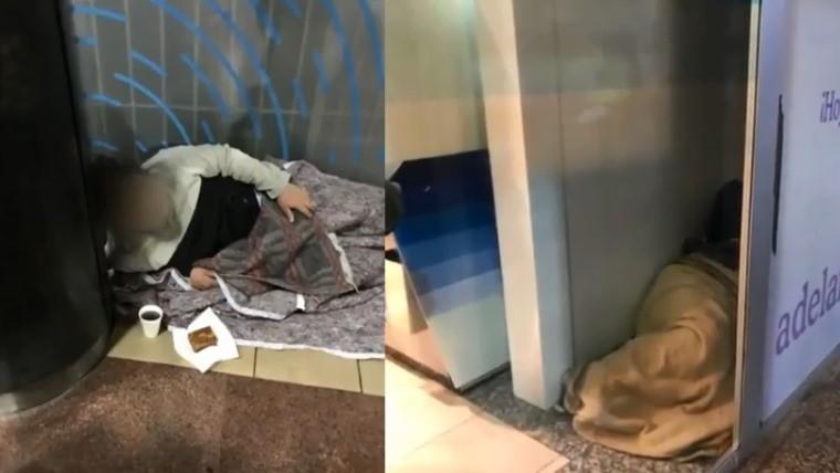 Chicos que duermen en cajeros la imagen que evidencia una for Los cajeros automaticos