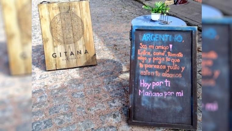 La original idea de un restaurante uruguayo para turistas argentinos