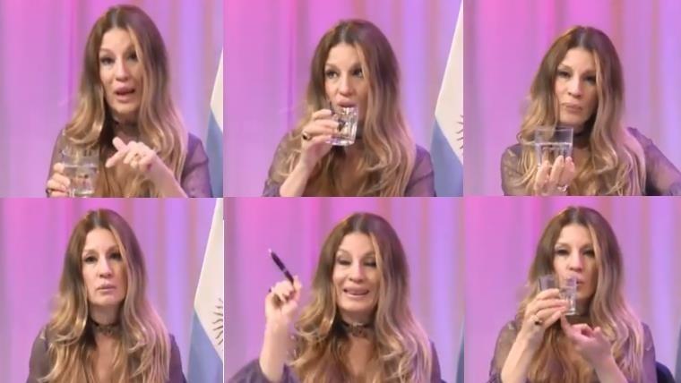 Gisela Barreto, polémica al hablar de sexo con un vaso con agua