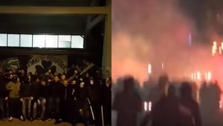 Un hincha arrojó una molotov a los visitantes en plena Champions League