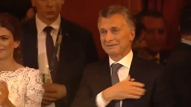 La emoción y el llanto de Macri tras el espectáculo