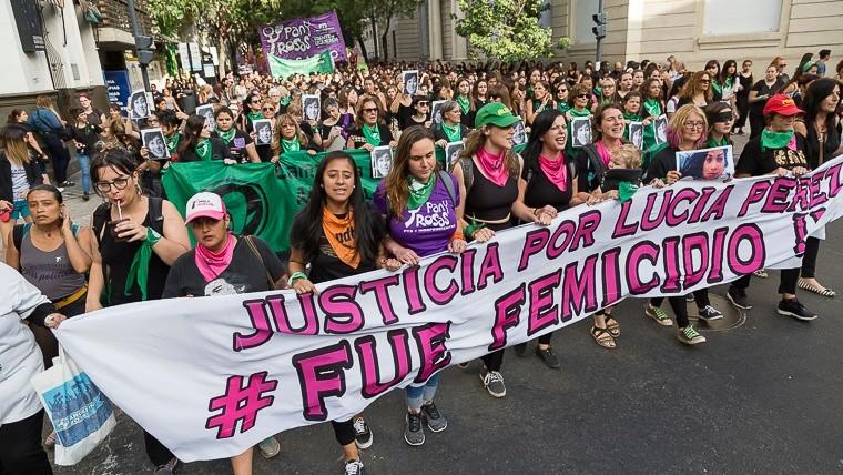 La movilización pidió Justicia por Lucía Pérez.