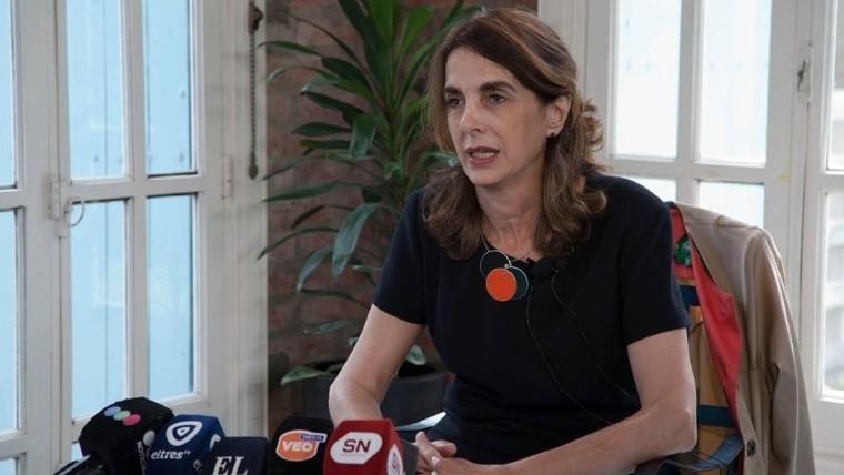 María Eugenia Bielsa en la conferencia de su importante anuncio