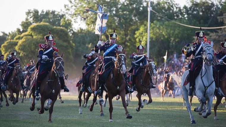 Postales de un nuevo aniversario del Combate de San Lorenzo.