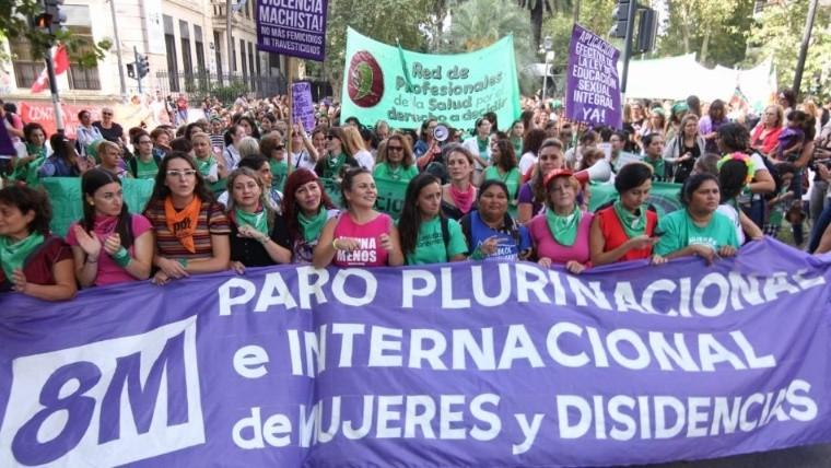 El frente de la marcha que partió de plaza San Martín.