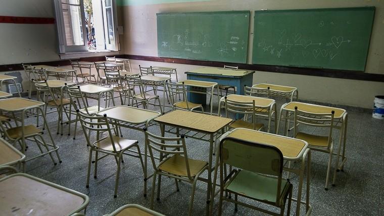 Otra vez aulas vacías en la provincia.