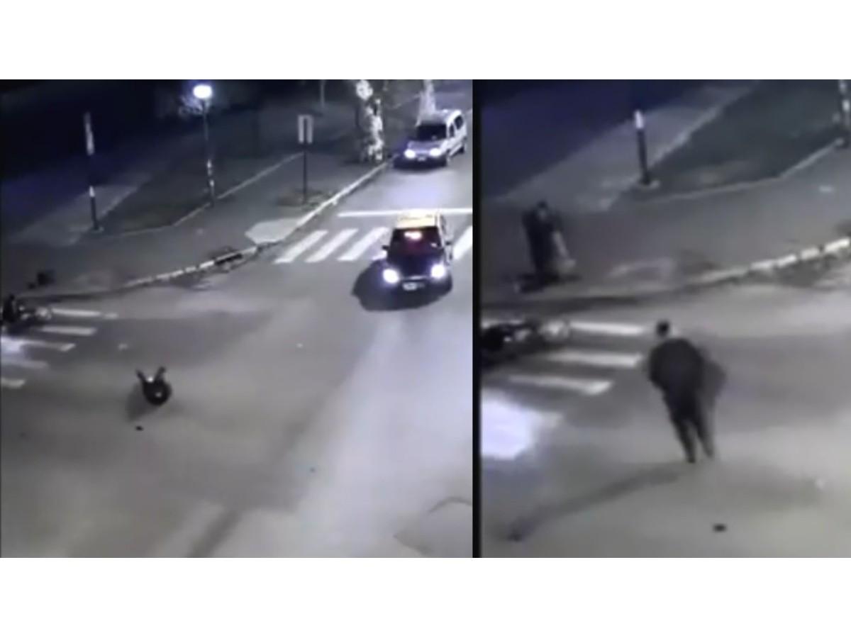 Impactante video de la balacera con dos muertos y policías involucrados