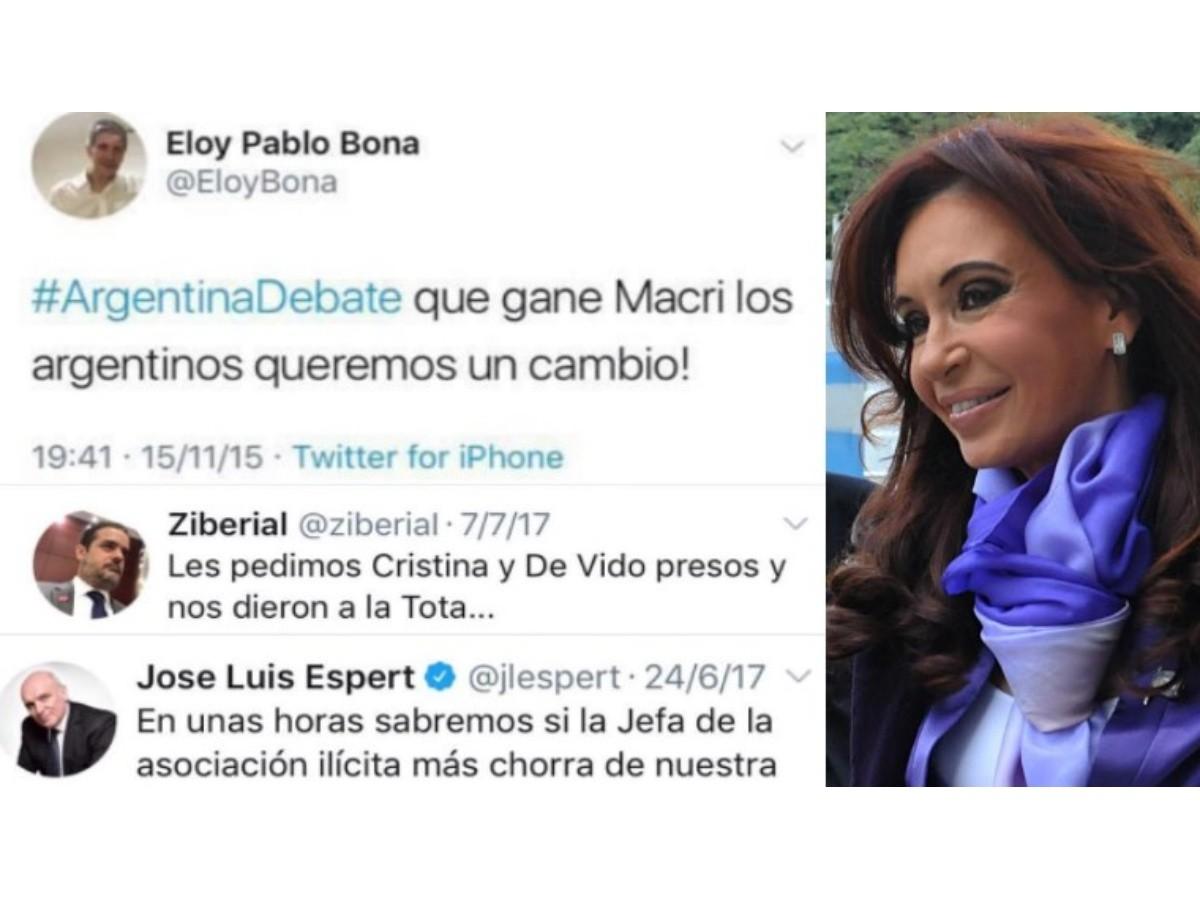 """""""Chorra"""", """"que gane Macri"""" y otros mensajes del perito recusado por Cristina"""