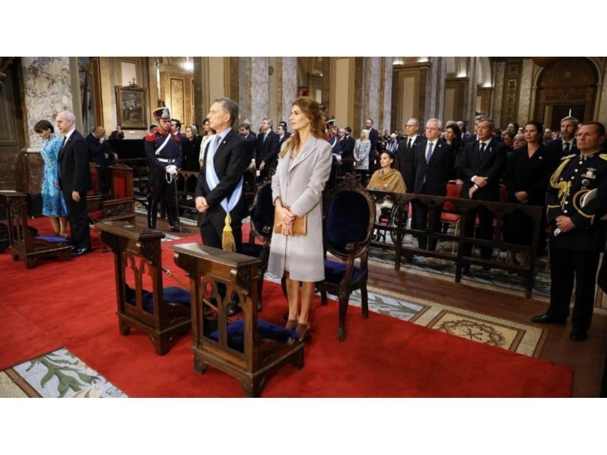 "Macri participó del Tedeum, en el que Poli pidió ""un gran pacto nacional"""