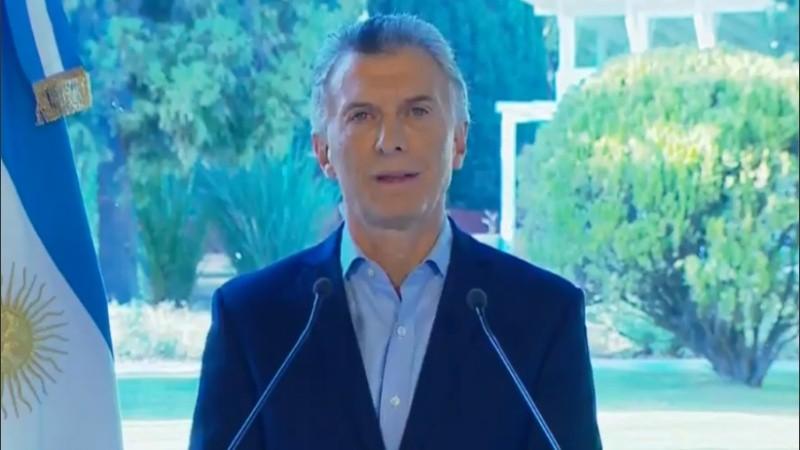 El presidente anunció medidas desde Olivos.