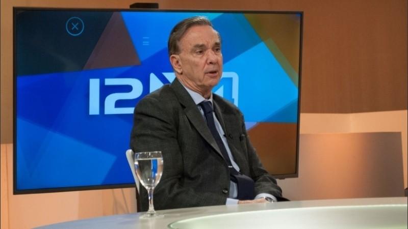 El candidato a vicepresidente fue entrevistado en De 12 a 14.