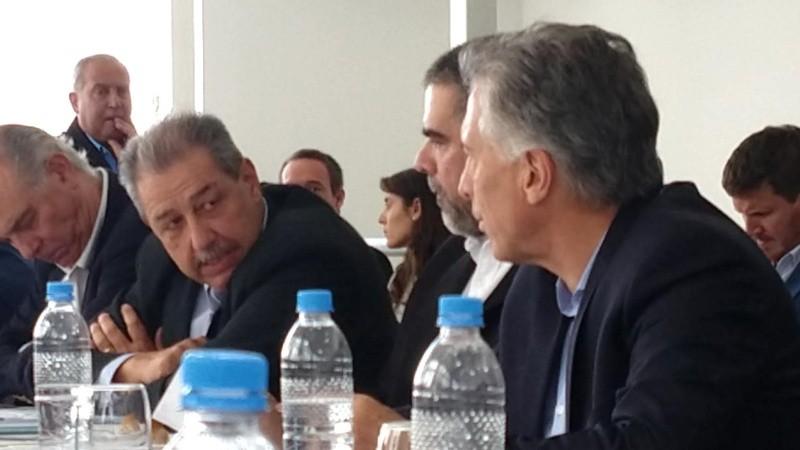 Los representantes de las Pymes industriales junto a Macri.