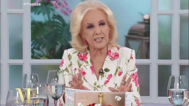 Mirtha ¿se puso colorada?