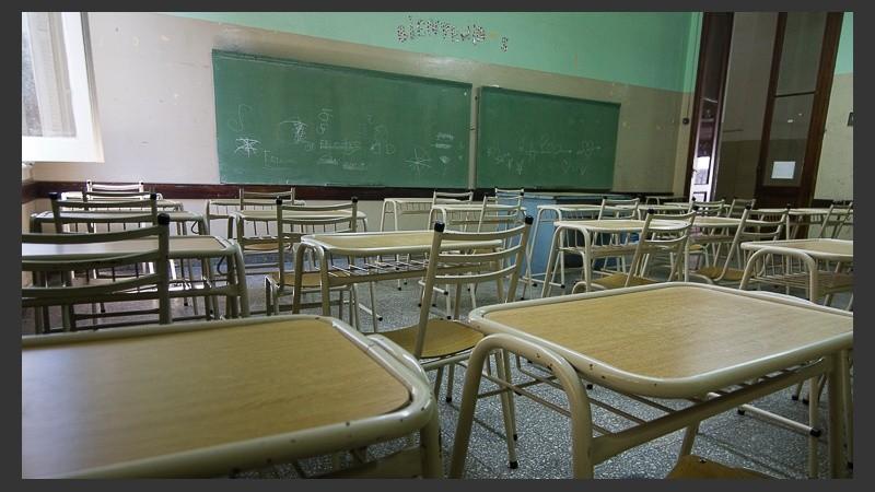 Las aulas seguirán vacías por tiempo indeterminado.
