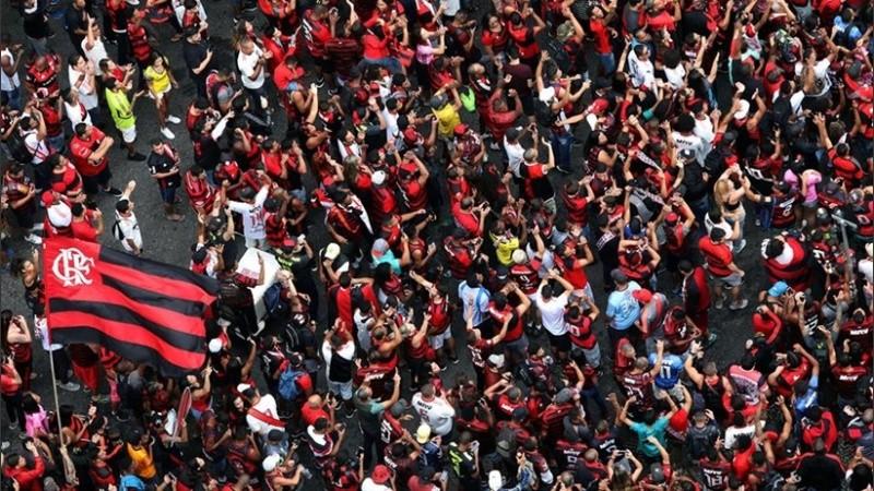 Masivo Recibimiento Al Flamengo En Río De Janeiro Rosario3