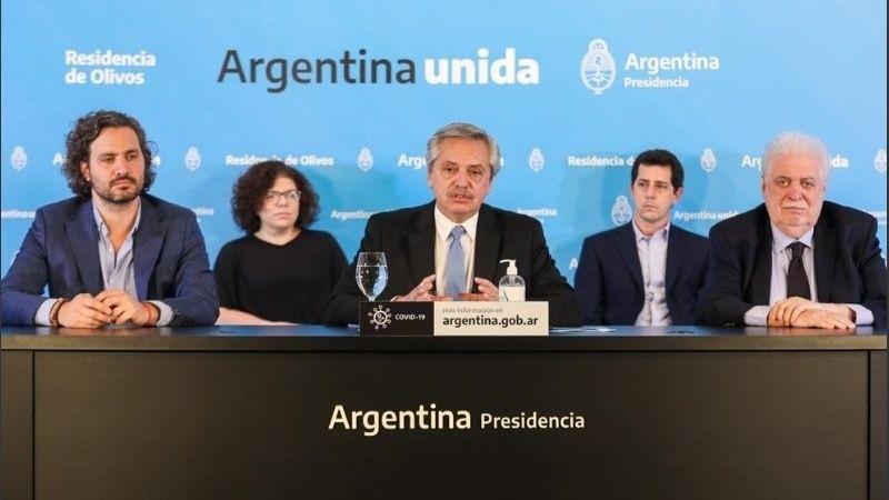 El presidente Alberto Fernández anunció este sábado a la noche la extensión de la cuarentena por la pandemia del coronavirus hasta el 10 de mayo inclusive