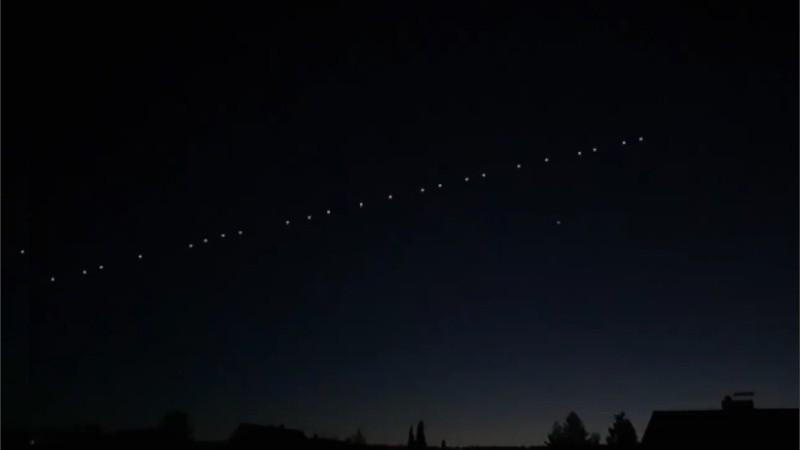 El tren de satélites se observó a simple vista.