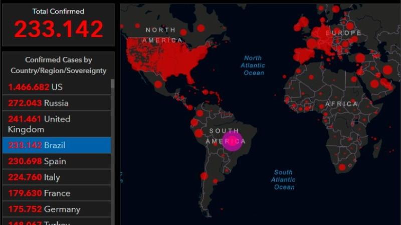 El mapa online de la pandemia.