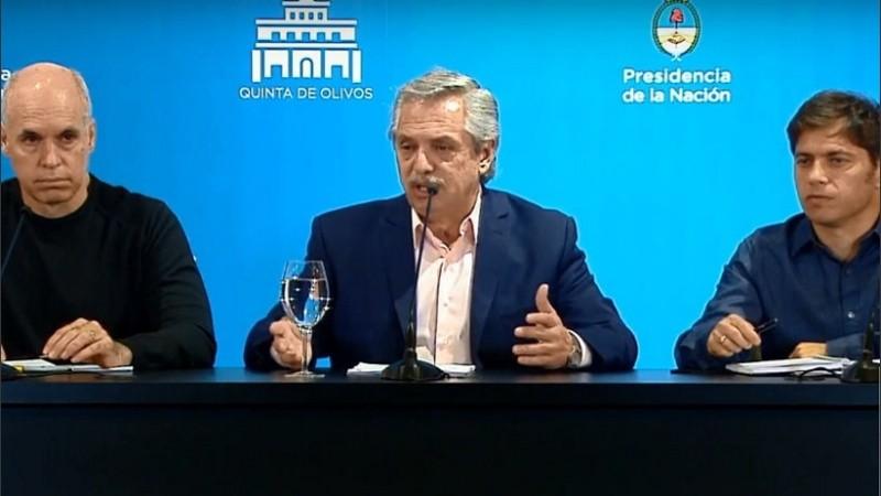 Fernández estará acompañado por Kicillof y Larreta.