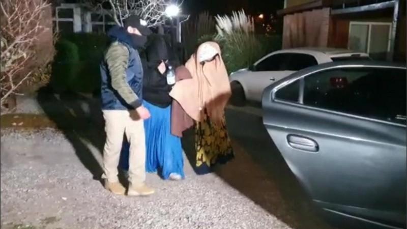Los detenidos la semana pasada en Roldán.