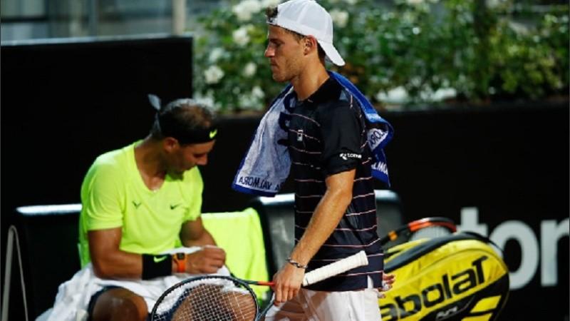 Schwartzman sigue y Nadal se queda. Peque eliminó a Rafa en Roma.