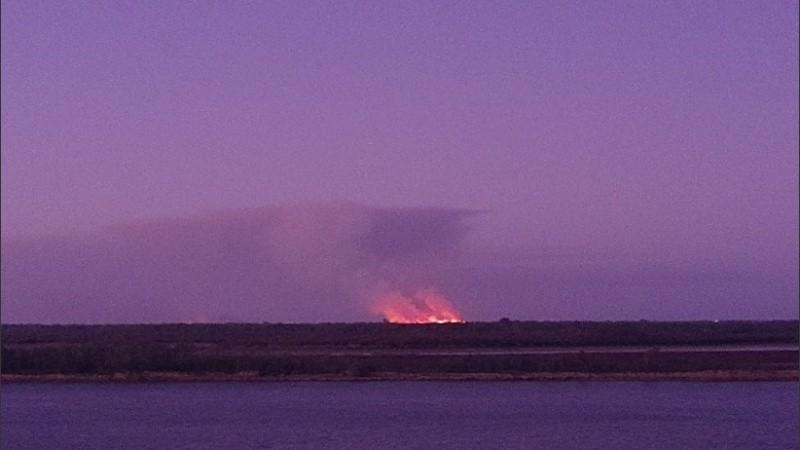 Nuevos focos de incendios comenzaron a observarse este sábado desde Rosario.