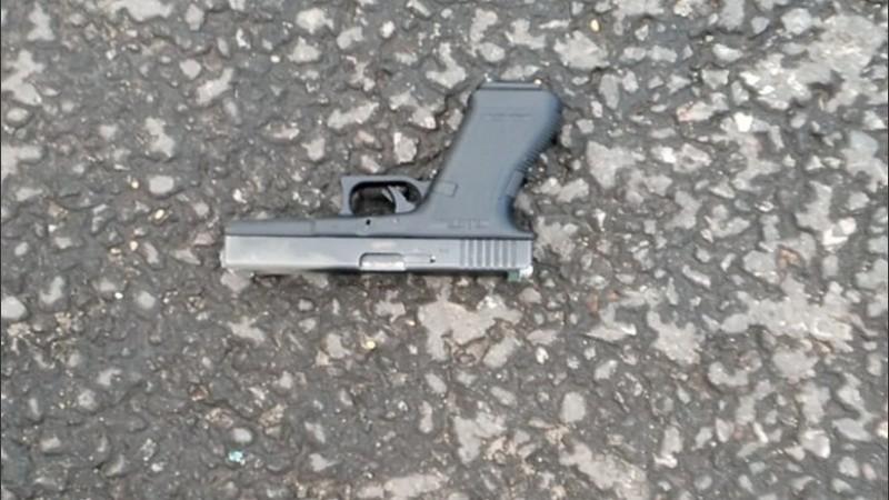 Una de las armas de fuego secuestradas.