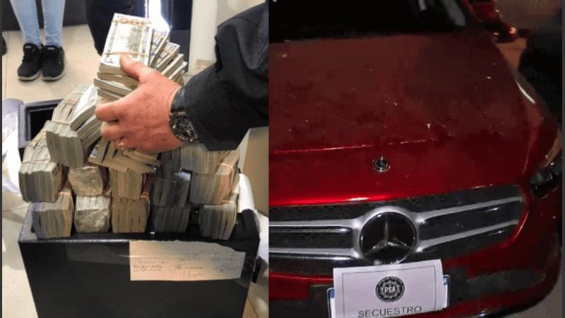 En un solo departamento encontraron casi dos millones de dólares.