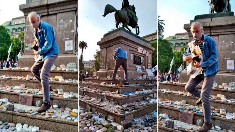 Vandalización del memorial a los muertos por covid