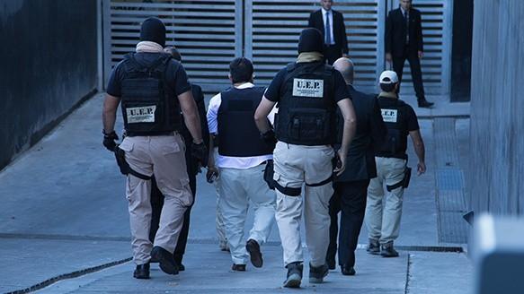 Paz al ingresar al Centro de Justicia Penal. (Alan Monzón/Rosario3.com)